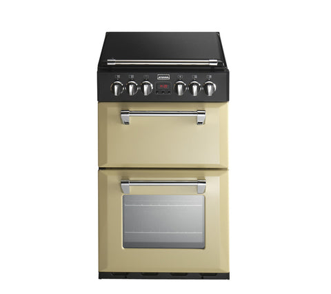 Stoves Richmond 550E 55cm Electric Ceramic Mini Range Cooker in Champagne