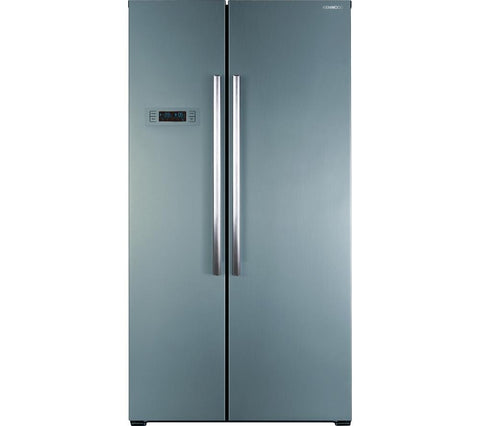 KENWOOD KFF2DS14 American-Style Fridge Freezer - Stainless Steel
