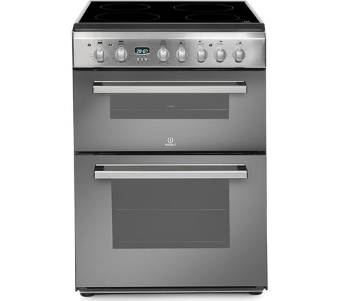 INDESIT DD60C2CX Electric Ceramic Cooker - Mirror