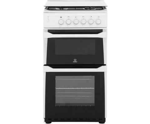 Indesit ITL50GW Single Full Gas Cooker - White