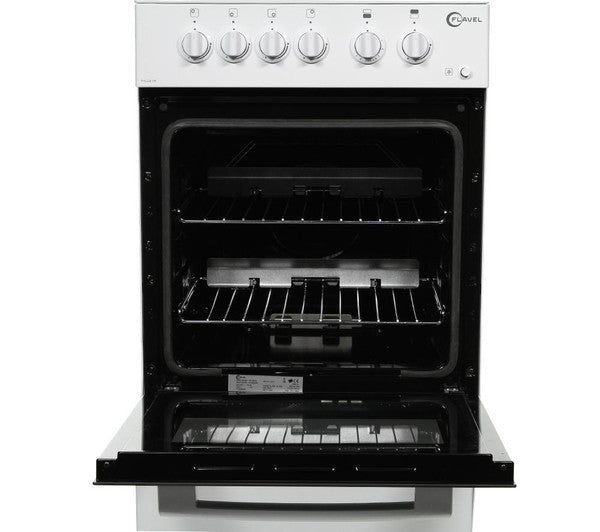 Flavel Fhlg51w 50cm High Level Grill Gas Cooker White