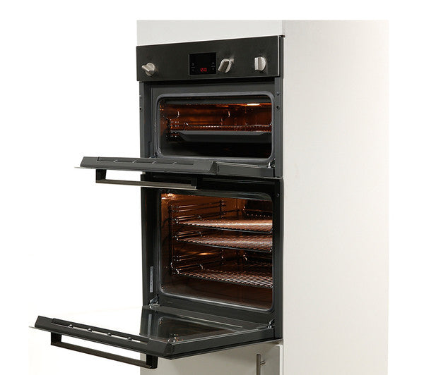 Bosch Hbm13b150b Electric Double Oven Brushed Steel