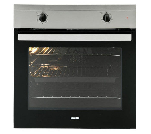 Beko 2 In 1 Osf21133sx Built In Electric Oven Amp Gas Hob