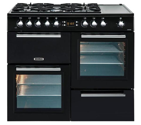 Leisure AL100F210K 100cm Dual Fuel Black Range Cooker