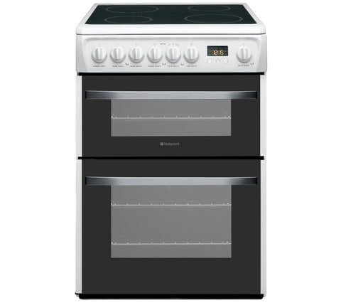 HOTPOINT DSC60P Electric Ceramic Cooker - White