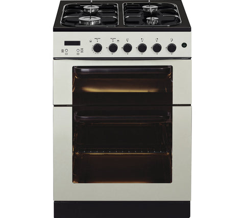 BAUMATIC BCG625IV Gas Cooker - Ivory 60cm LPG Convertible