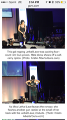NRA, concealed carry fashion show, lethal lace