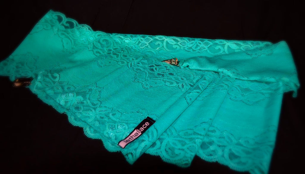 Teal Lace Short Holster (Leg Carry Only)