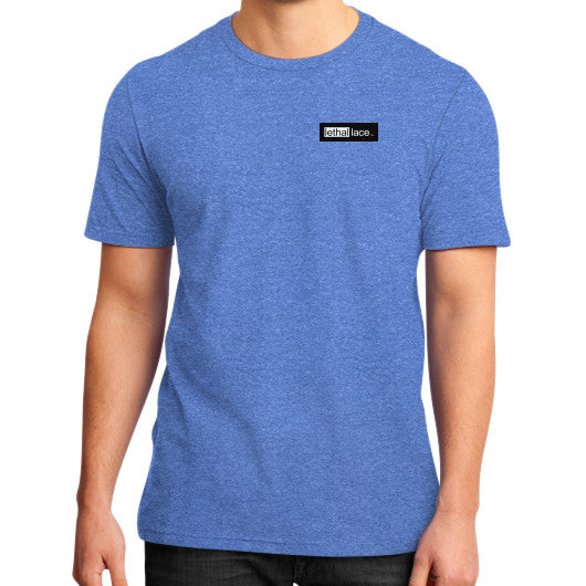 District T-Shirt (on man) Heather blue lethallace TM