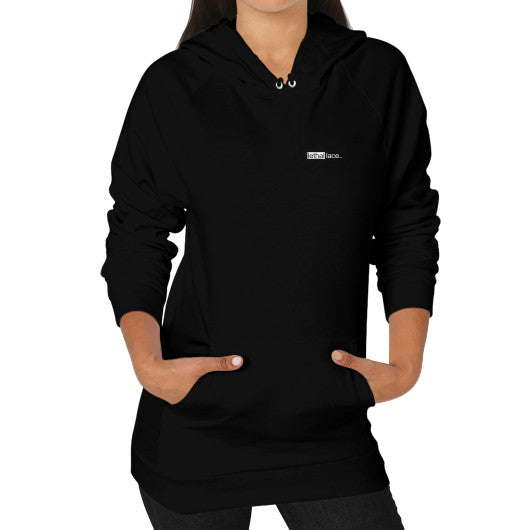 Hoodie (on woman) Black lethallace TM
