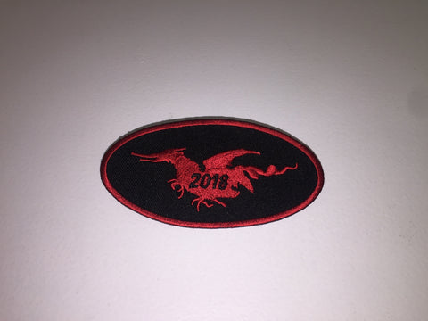 2018 Patch Red Oval