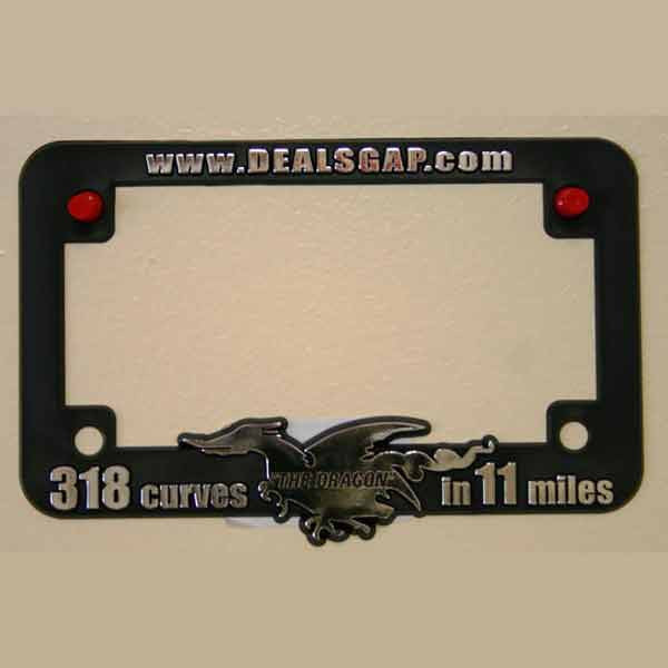 Motorcycle License Plate Frame, Plastic