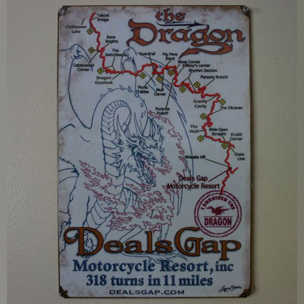 Map Metal Wall Sign