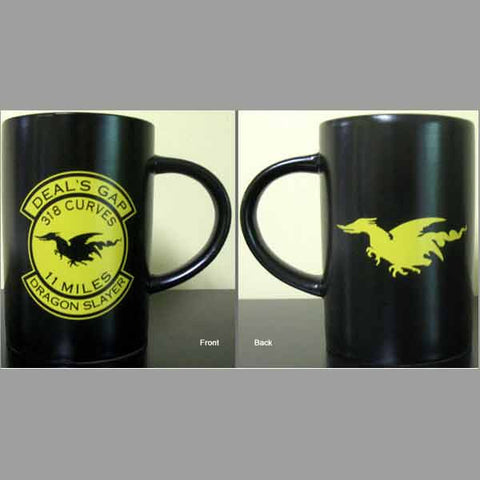 Dragon Slayer Black & Yellow Mug