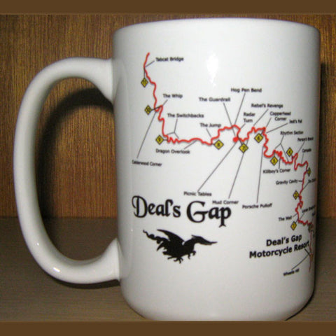 Map & Shield White Coffee Mug