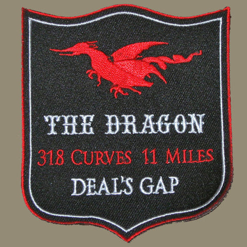 Black, Red, White Crest Large Patch