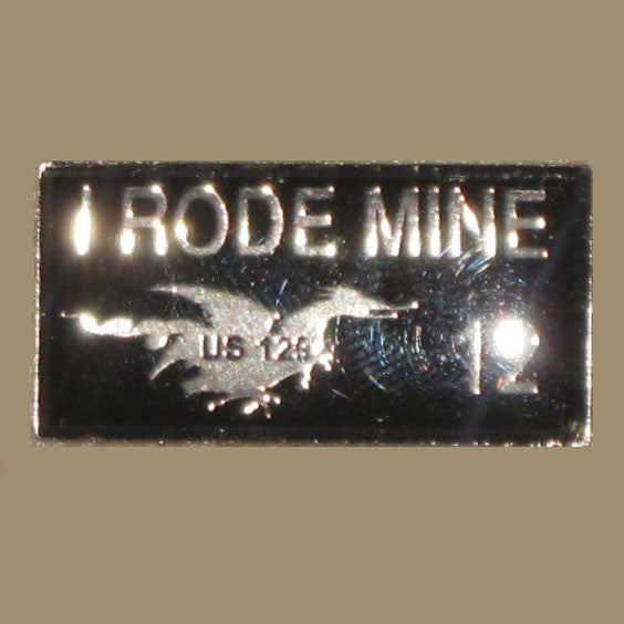 2012 I Rode Mine Pin