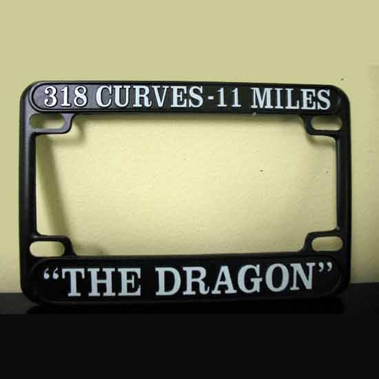 Motorcycle License Plate Frame, Metal