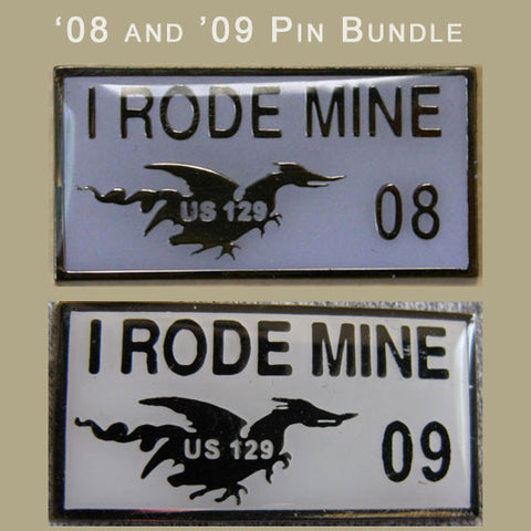 I Rode Mine White Pin Bundle