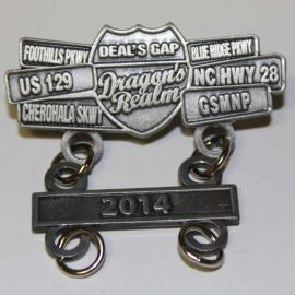 2014 Dragon's Realm Date Bar Pewter Pin