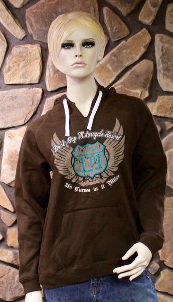 Sweatshirt - Ladies Chocolate Hoodie