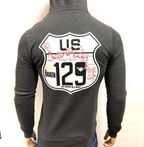 Road Sign Zip-up Hoodie