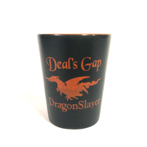 Shot Glass Black / Orange