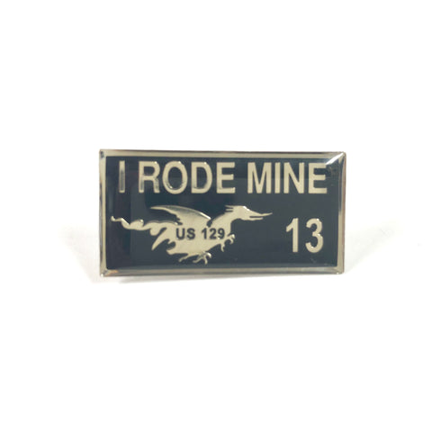 2013 I Rode Mine Pin