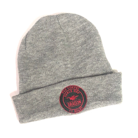 Beanie - Gray / Black / Red