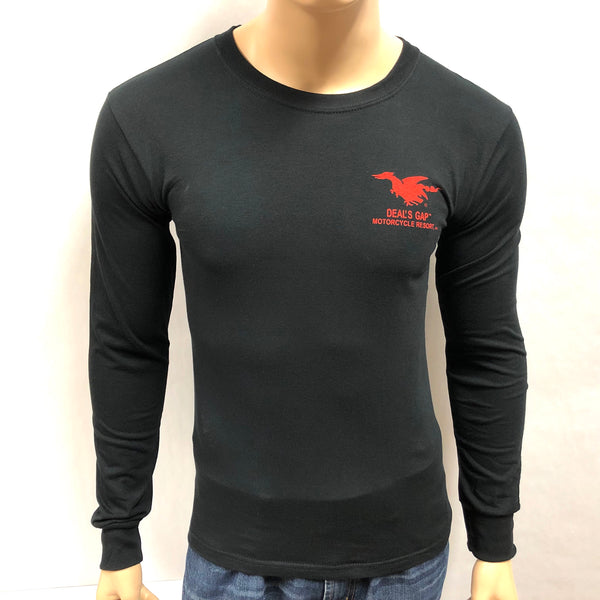 Flamer Black Long Sleeve T-Shirt