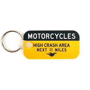 Caution Sign Keychain