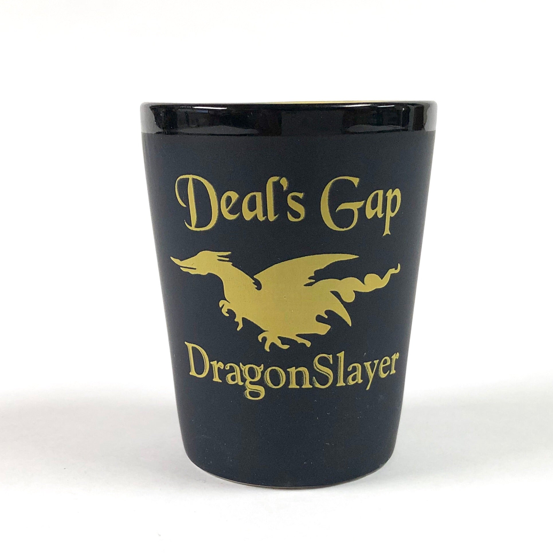 Shot Glass Black & Yellow Dragon Slayer