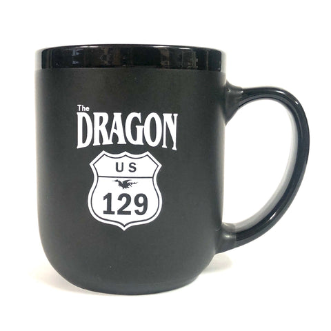 Matte Black 'The Dragon' mug