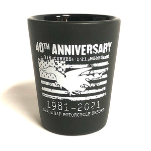 40th Anniversary shot glass