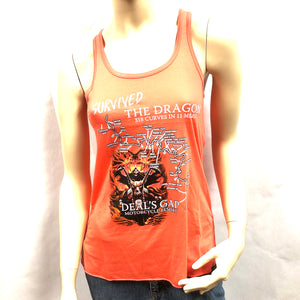 I Survived Map - Ladies Tank - Orange