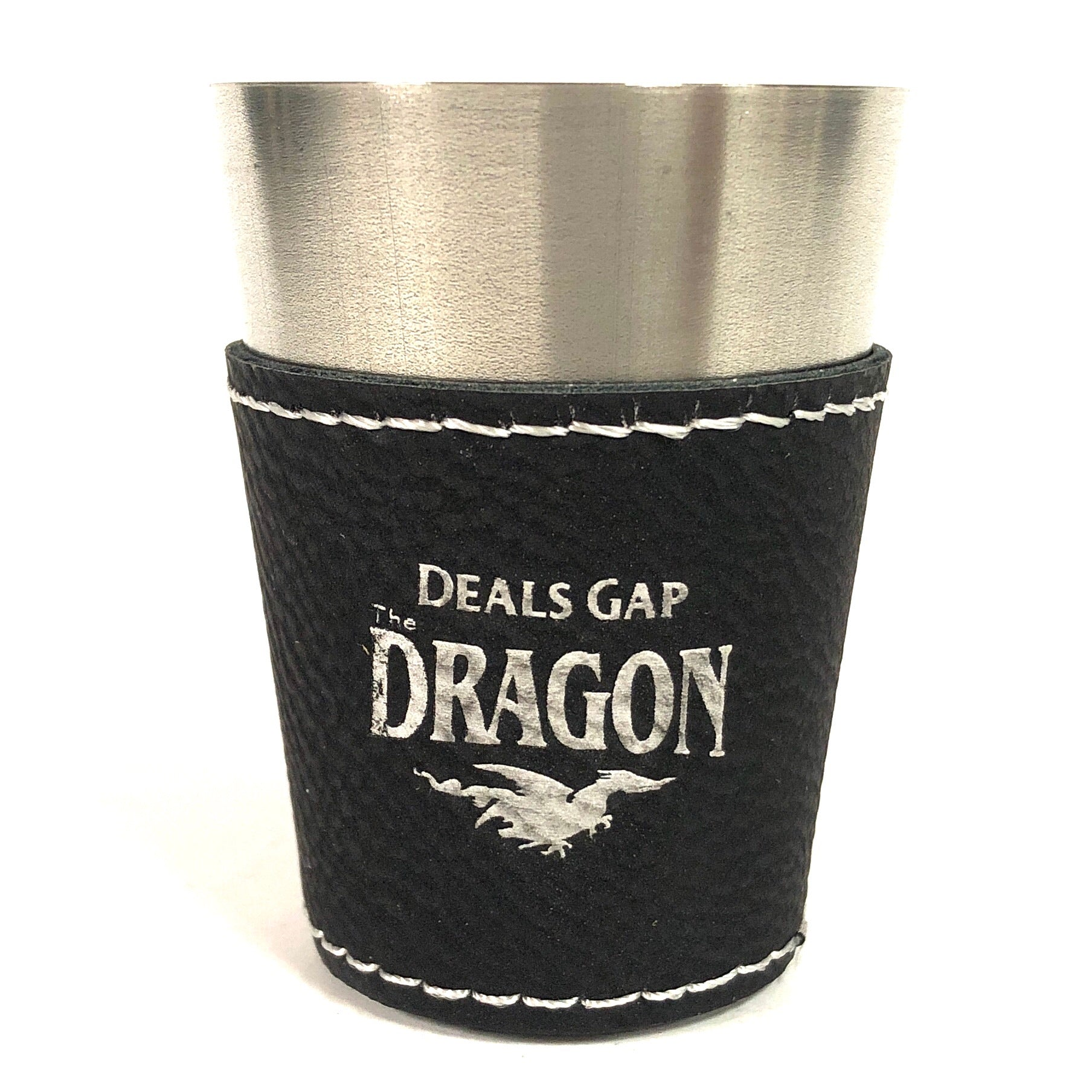 Shot Glass Leather Black