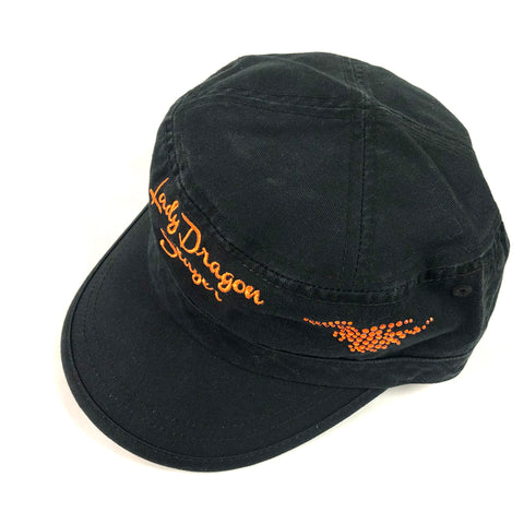 Lady Dragon Slayer Black with Orange Hat