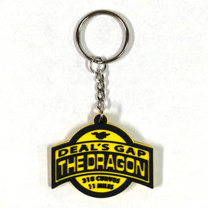 Shield Black / Yellow Keychain