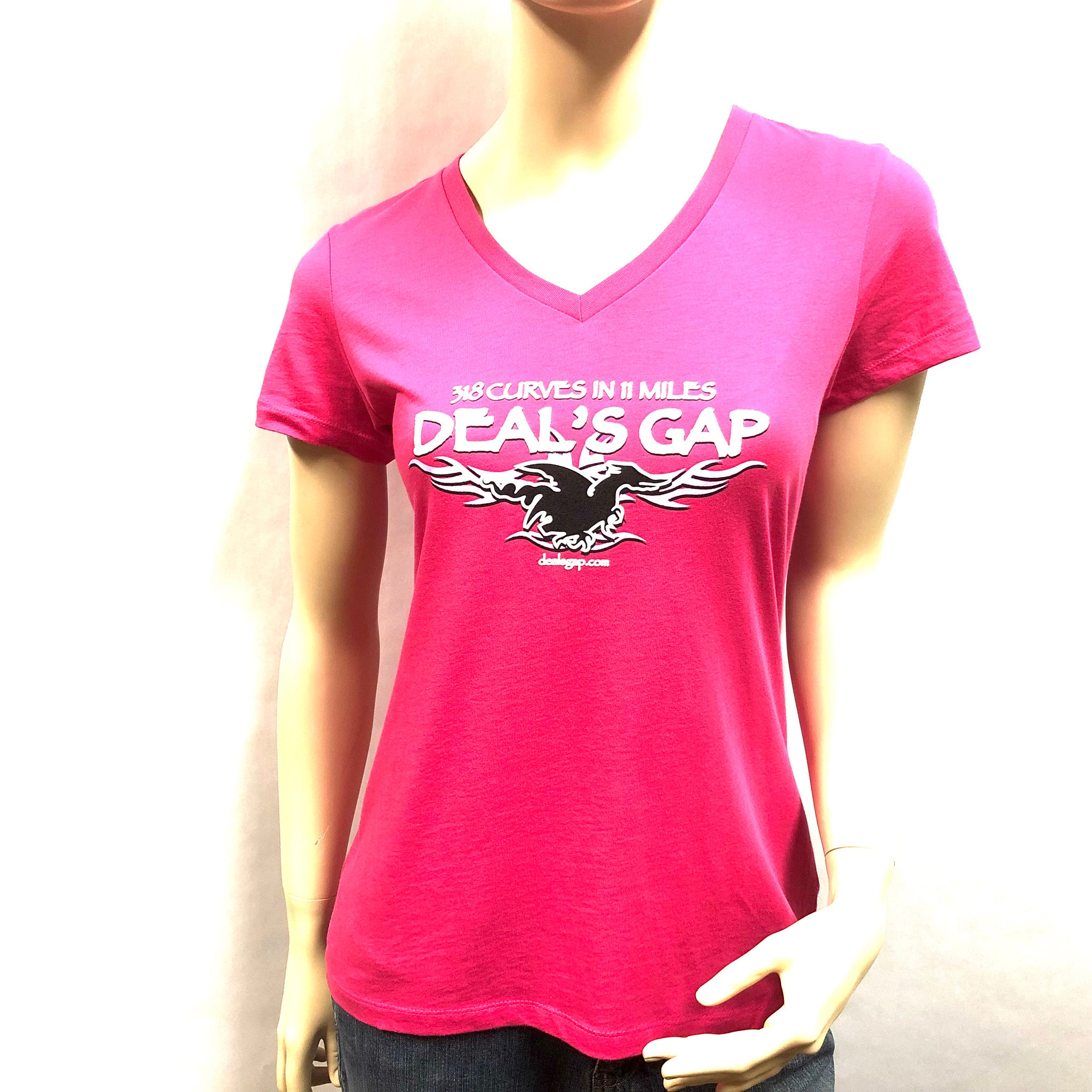 Ladies Pink Tribal V-neck