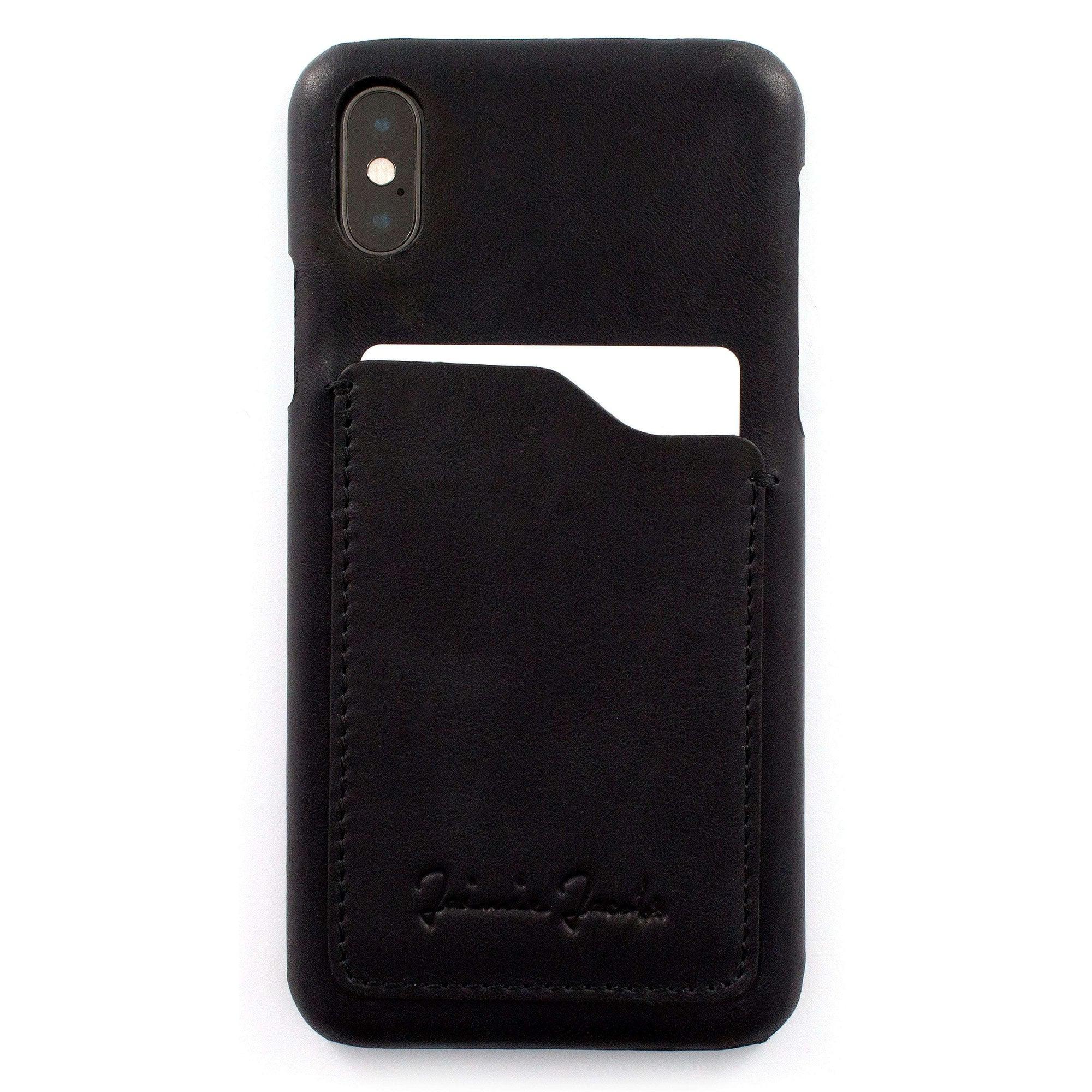 Jaimie Jacobs Phone Case Schwarz Phone Case for iPhone X & iPhone XS with Card Pocket jamy jamie jami jakobs