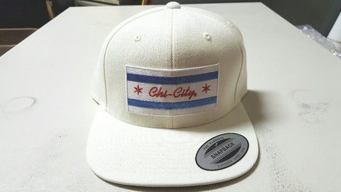 Chi-City Flag White Snapback