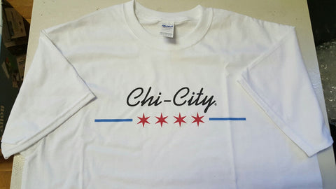 Chicago Retro Flag Tee