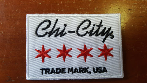 "Chi-City Trademark, USA Patch - 3"" X 2"""