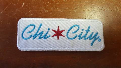 "Chi-City Classic Logo Iron Patch - 4"" X 1.5"""