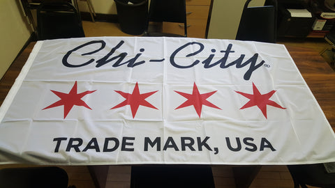 Chi-City Apparel Trademark USA Logo Flag