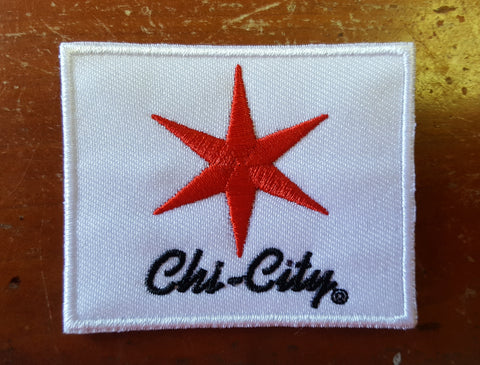 City of Chicago Red Star Iron-On Patch