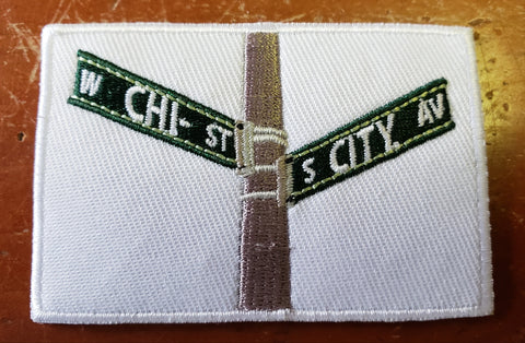 Chi-City Apparel Street Signs Iron On Patch