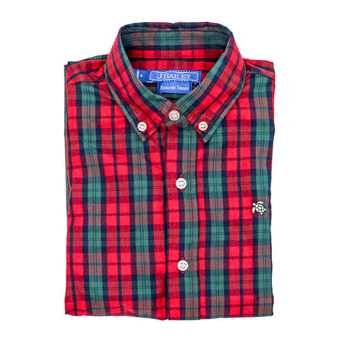 1016-ROSCOE-217-J, December Plaid Button Down Shirt