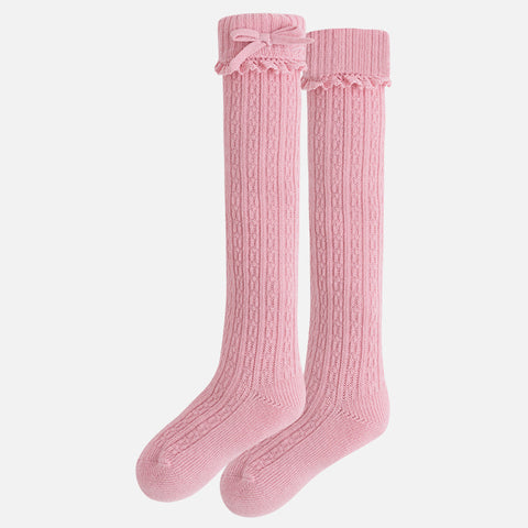 10280BG Girl knee-high socks with frill