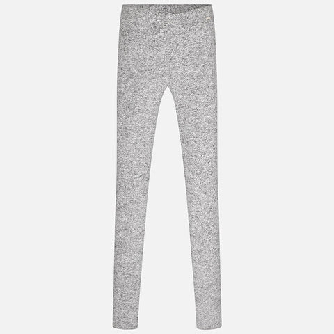 7717S Girl knit leggings with plain design